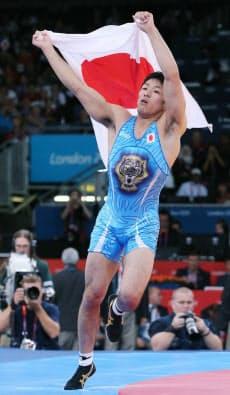 レスリング男子フリー66キロ級、金メダルを獲得した米満=写真 小川望