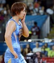 女子72キロ級2回戦で敗れた浜口京子=共同
