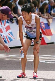 ロンドン五輪の男子マラソンで45位に終わった藤原新=写真 佐光恭明