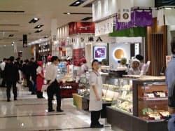 22日増床開業する大丸東京店の食品フロアのお弁当ストリート(東京都千代田区)