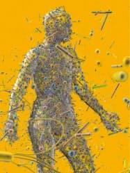 ヒトの体には膨大な数の細菌がすみついている(イメージ)。イラスト=Bryan Christie