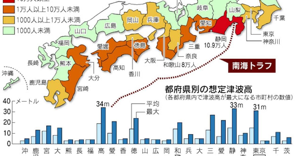 予想 南海 トラフ 南海トラフで発生する地震