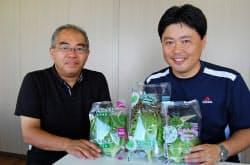 グランパファームの山田篤志プロジェクトマネージャー(右)と三菱総合研究所の伊藤保主任研究員