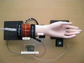 ヤマハが開発した「体温発電」の試作品