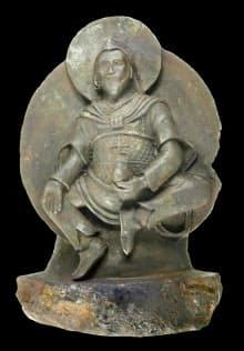 隕石でできていることが判明した、ナチス・ドイツがチベットから持ち帰った彫像=ドイツの研究チーム提供・共同