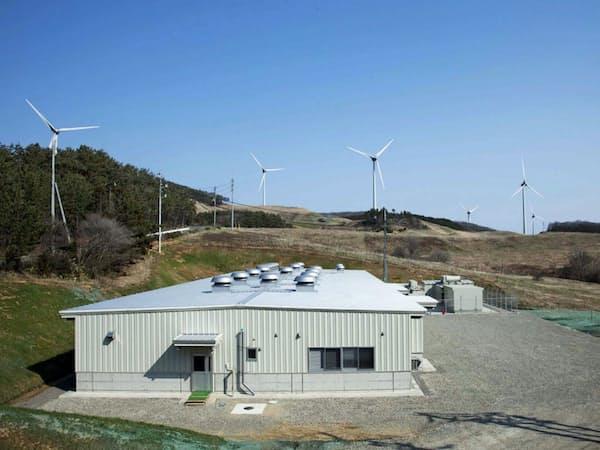 新神戸電機の鉛蓄電池を採用した市浦風力発電所(青森県五所川原市)