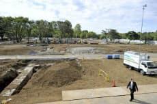 公務員宿舎への批判が高まり、朝霞住宅の建設を中止した(2011年10月、埼玉県朝霞市)