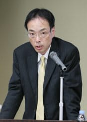 「日本版ISAの目指すもの」について講演する金融庁の森信親総括審議官(10日、東京・大手町)