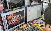 米国でスマホ向けゲームがヒットした(開発作業中のエイチームの社内、名古屋市西区)