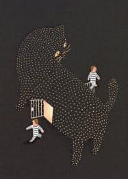 量子力学が語る「シュレーディンガーの猫」が囚人を解放する。(イラストは斉藤重之氏)