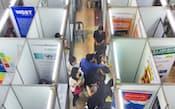 海外大手を含め80社余りが参加したフィリピン国立大のジョブフェア