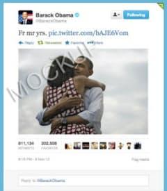 ツイッターが有料になると昨年11月のオバマ米大統領のつぶやきはこうなる(同社サイトより)