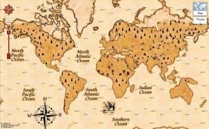 グーグルは海賊船から引き揚げた地図をもとに作った「グーグル・マップ」を公開した(同社サイトより)
