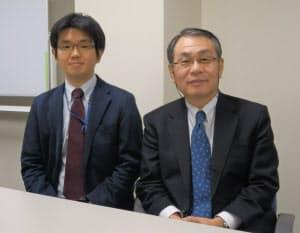 本部和彦・東大大学院特任教授(右)と上野貴弘・同客員研究員