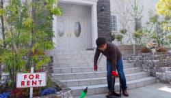 米国の学生寮をイメージした作りのアパート。林さんは頻繁に訪問して掃除する