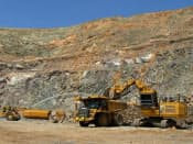 レアアースの原料となる鉱石の採掘現場(米カリフォルニア州マウンテンパス)