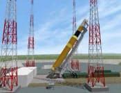 次期の主力となる大型ロケット「H3(仮称)」の想像図(宇宙航空研究開発機構提供)