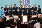 総裁、代表、委員長、党首が勢ぞろい(3日の与野党党首討論会)