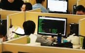 データ分析を行うデータサイエンティスト(東京都港区のヤフー本社)