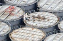 汚染水が漏えいしていた東京電力福島第1原発の地上タンク(20日)
