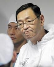 吉田氏は汚染水問題を懸念していた(2011年11月12日)=代表撮影