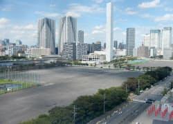 東京五輪の選手村が建設される晴海埠頭(東京都中央区)