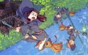(C)Y.YOSHINARI/TRIGGER ▼「リトルウィッチアカデミア2」 前作は3月に劇場公開。欧州の魔女学校に入学した女の子が、友達と共に危機に立ち向かう。「2」は40分の新作として2015年の完成を予定。制作会社のトリガーは11年設立。大塚雅彦社長は「新世紀エヴァンゲリオン」などの制作に携わった。
