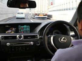 首都高速を自動運転するトヨタの試験車両