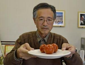 トマトそっくりに仕上げた「寒天トマト」