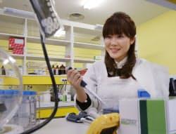 STAP細胞の発見を発表した理研の小保方晴子研究ユニットリーダー(神戸市中央区)