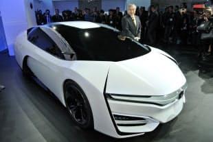 東京五輪のマラソンの先導車は燃料電池車が有力?(写真はホンダの試作車)