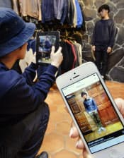 スタッフのコーディネートを撮影しネット配信する(東京都渋谷区のBEAMS HARAJUKU)