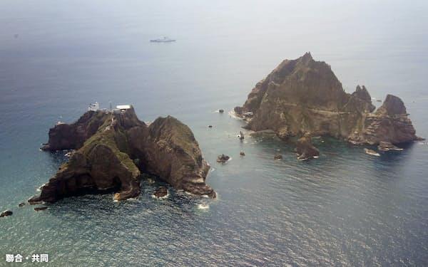 竹島での軍事訓練開始は、韓国が22日にGSOMIAの破棄を決めたのに続く安全保障上の措置となる=聯合・共同
