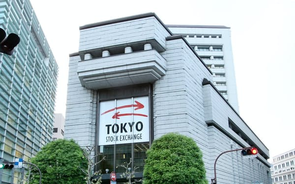 東京証券取引所の外観(東京都中央区)