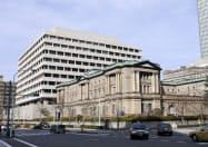 日本銀行の本店(東京・中央)=共同