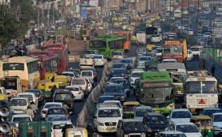 インドのビジネスでは「No Problem」というフレーズが頻繁に出てくる(ニューデリーの交通渋滞)