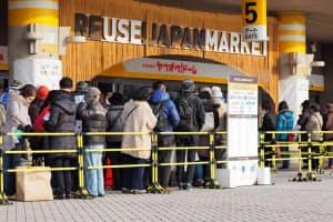 ヤフーが福岡ヤフオクドームで1月に開いたリユース品販売イベント