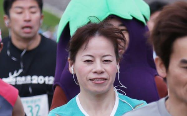 ハーフマラソンに挑戦する若林ミヨさん(大阪市)