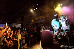 ニコニコ超会議3では「初音ミク」のコーナーが特に注目を浴びた(千葉市の幕張メッセ)