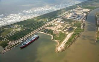 大ガスは2018年から米国産LNGを輸出する計画=フリーポートLNGデベロップメント社提供