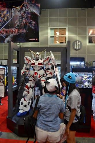 海外でも人気を集める日本のアニメやゲームは多い(米ロサンゼルスのアニメ展示会)
