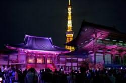 お寺フェスの「向源」はクラウドファンディングで資金調達した(4月29日、増上寺)