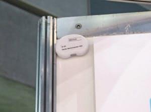 ワイヤレスジャパン会場内のブースに配置されたビーコンの例