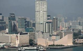 香港島からみた九龍地区
