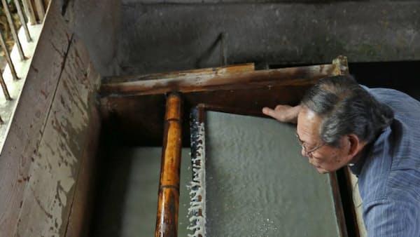 六甲の泥 和紙に息吹 名塩の谷徳製紙所(未来への百景)