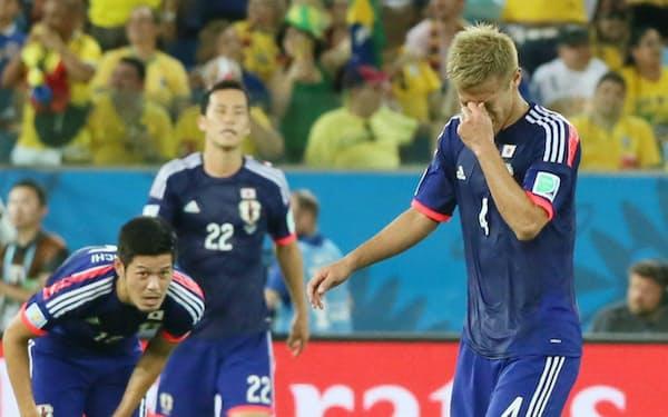 ワールドカップ・ブラジル大会で日本は1次リーグを突破できなかった