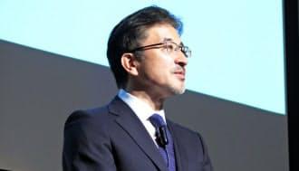 ソニーから独立したVAIOの社長に就任した関取高行氏(1日、東京・千代田)