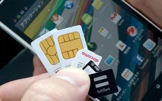 携帯電話やスマートフォンのSIMカード