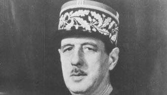 強いフランス、強い政府を志向したド・ゴール大統領=AP