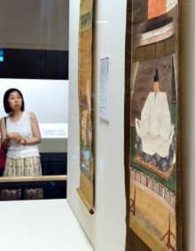 「醍醐寺のすべて」に展示されている豊臣秀吉像(奈良市の奈良国立博物館)